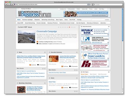 Kentuckiana Business Forum Web Design Example