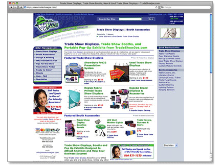 TradeShowJoe Web Design Example