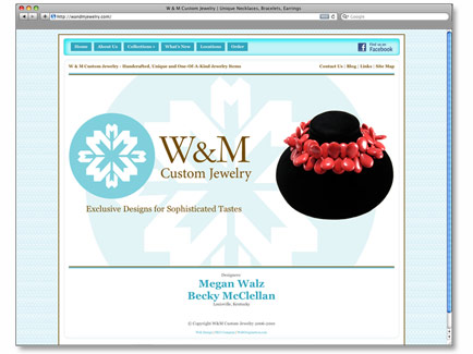 WandM Jewelry Web Design Example